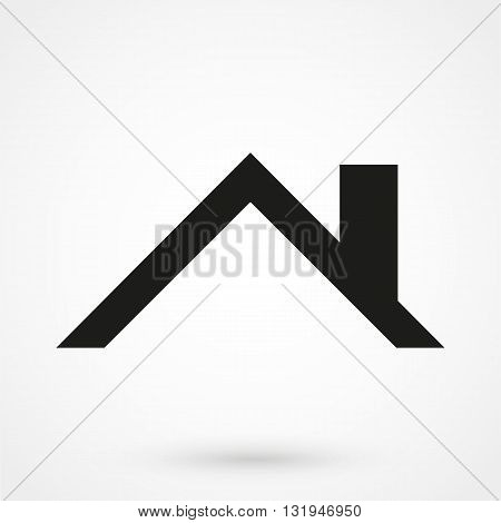 Roof Icon Black Vector On White Background