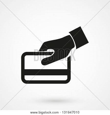 Credit Card Icon Black Vector On White Background