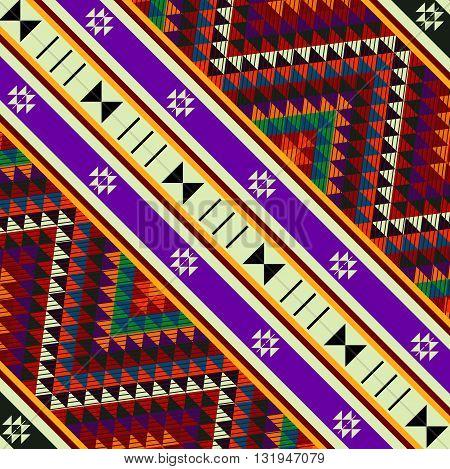 Diagonal Decorative Sadu Rug Patterns Square Tile