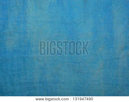 thin blue fabric, made of cotton, close-up