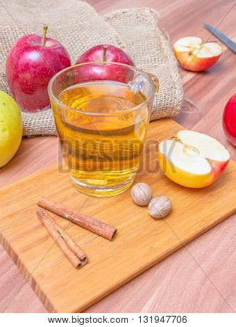 Cider - alcohol hot apploe beverage on table
