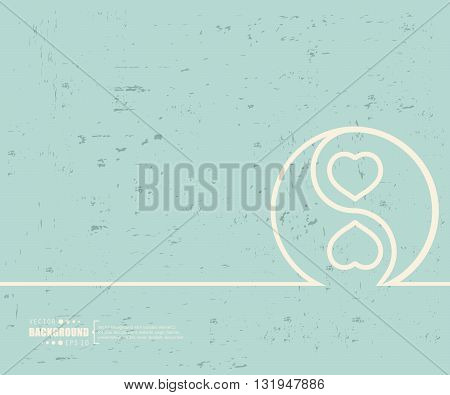Creative vector Yin Yang. Art illustration template background. For presentation, layout, brochure, logo, page, print, banner, poster, cover, booklet, business infographic, wallpaper, sign, flyer.