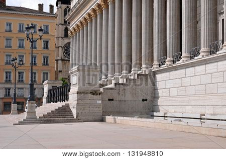 Lyon France - april 13 2016: the neoclassical law court