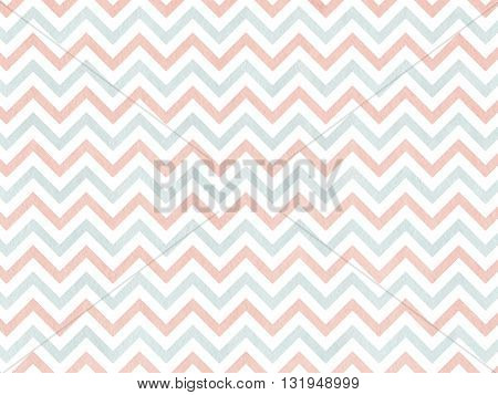 Watercolor Pink And Blue Stripes Background, Chevron.
