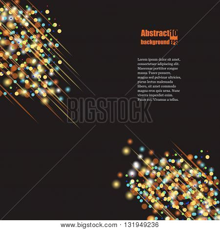 Fireworks In The Night Sky. Eps 10 Vector Illustration