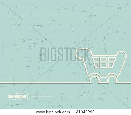 Creative vector cart. Art illustration template background. For presentation, layout, brochure, logo, page, print, banner, poster, cover, booklet, business infographic, wallpaper, sign, flyer.