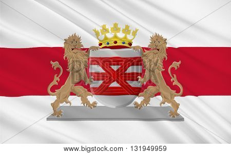 Flag of Enschede also known as Eanske in the local dialect of Twents is a municipality and a city in the eastern Netherlands in the province of Overijssel and in the Twente region