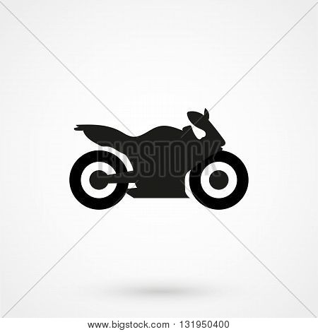Motorcycle Icon Black Vector On White Background