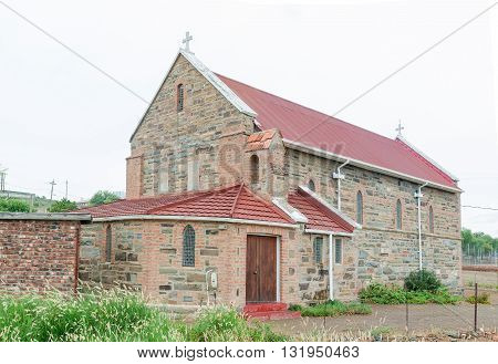 An historic old church in Jansenville a small town in the heart of the mohair industry of the Eastern Cape Karoo region.
