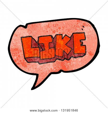 freehand speech bubble textured cartoon word like