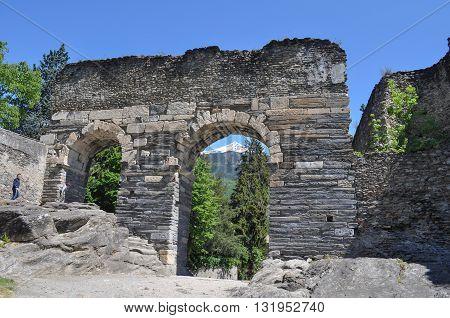 Roman Aqueduct In Susa