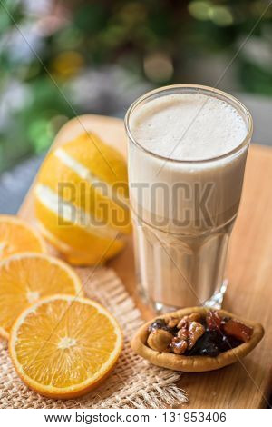 coffee raf with citrus