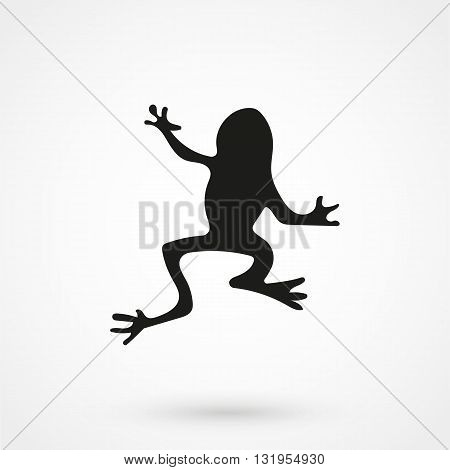 Frog Icon Black Vector On White Background
