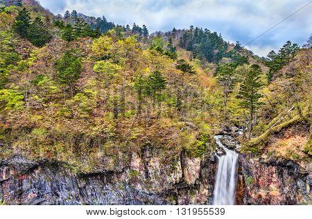 Kegon Falls, one of highest waterfalls in Japan. Located in Nikko National Park.