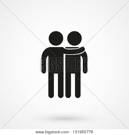 Friends Icon Black Vector On White Background