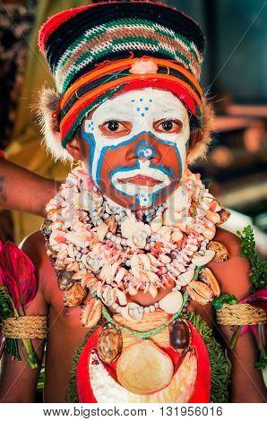 Curious Boy In Papua New Guinea