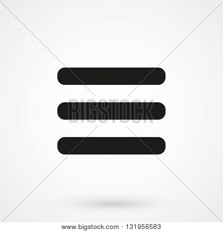Menu Icon Black Vector On White Background