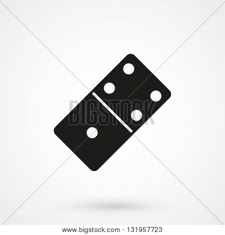 Domino Icon Black Vector On White Background