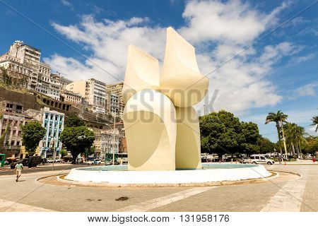 BAHIA, BRAZIL - CIRCA MAY 2016: Beautiful view of Salvador city in Bahia, Brazil