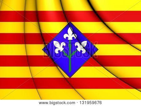 Flag Of Lleida Province, Spain.