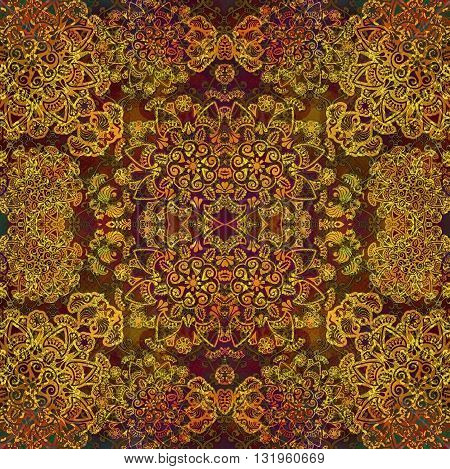 yellow floral design on web background colored