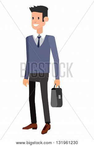 Vector detailed characters men, business men. Character Business man illustration, business people lifestyle isolated on white background