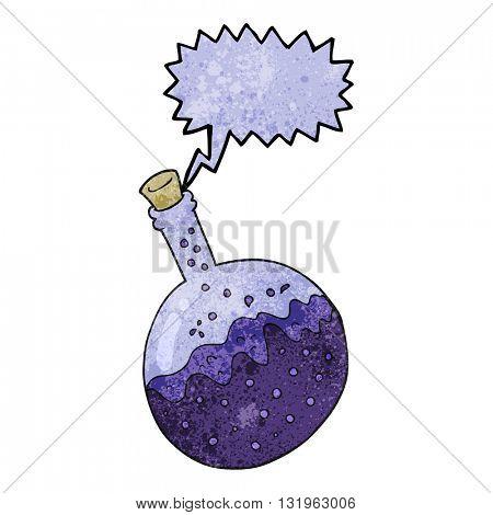 freehand speech bubble textured cartoon chemicals