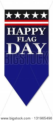 USA Happy Flag Day, banner design on white background