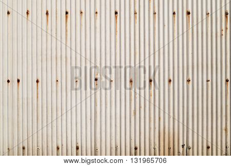 A rusty corrugated iron metal texture can use for background