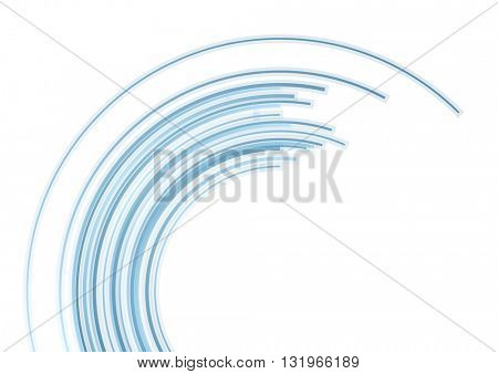 Blue tech arc abstract background. Vector design
