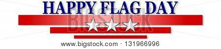 USA FLAG DAY, banner on white background