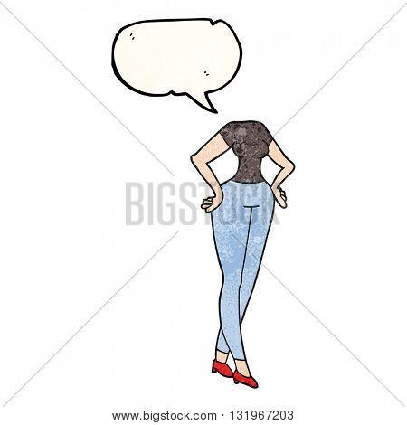 freehand speech bubble textured cartoon headless body (add own photographs)