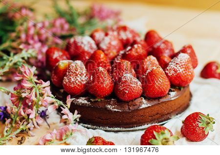 Strawberry Tart, Strawberry Shortcake, Strawberry Jam. Serving H
