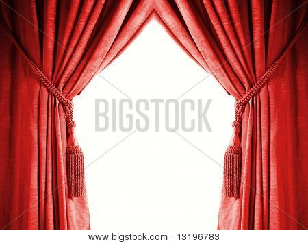 Luxury curtain with a copy-space in the middle