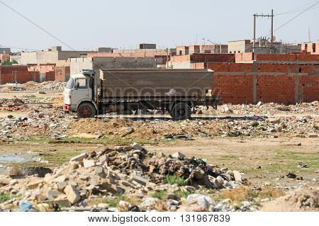 Construction Site In Kairouan