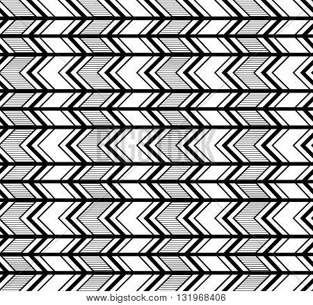 Abstract striped geometric pattern. Seamless vector background.