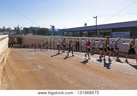 Spectators And Runners At Comrades Marathon In Durban 9