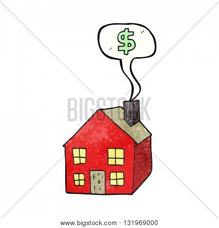freehand speech bubble textured cartoon housing market