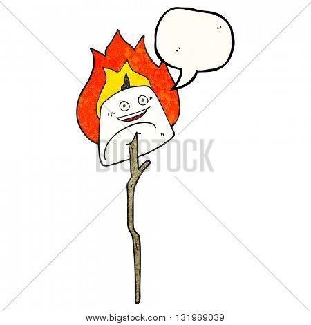 freehand speech bubble textured cartoon toasted marshmallow