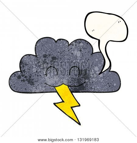 freehand speech bubble textured cartoon storm cloud