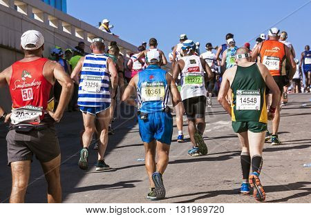 Spectators And Runners At Comrades Marathon In Durban 7