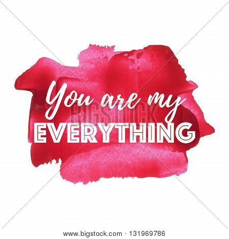 You Are My Sunshine Card, Poster, Logo, Illustration, Lettering, Words, Text Written On Red Painted