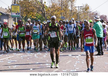 Spectators And Runners At Comrades Marathon In Durban 2