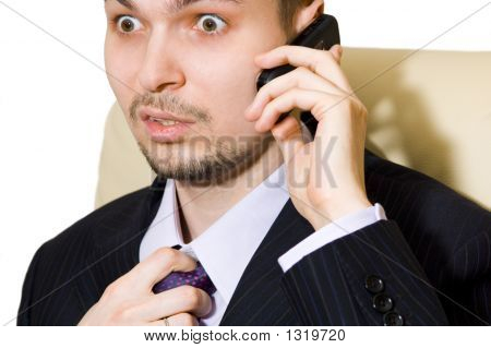 Frightened Businessman