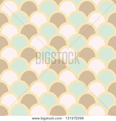 Fish skin style background. Fish scales pattern. Pastel colors. Fish skin seamless background, vector illustration.