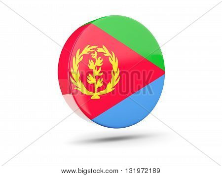 Round Icon With Flag Of Eritrea
