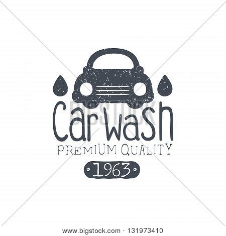 Carwash Vintage Stamp Classic Cool Vector Design With Text Elements On White Background