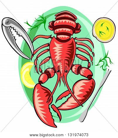 Lobster with all the trimmings and special tools