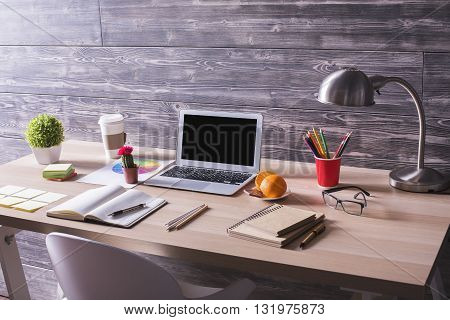 Creative Workplace With Laptop