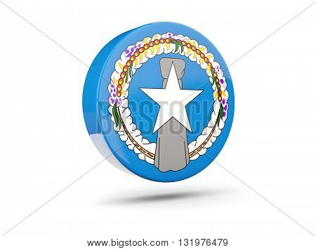 Round Icon With Flag Of Northern Mariana Islands